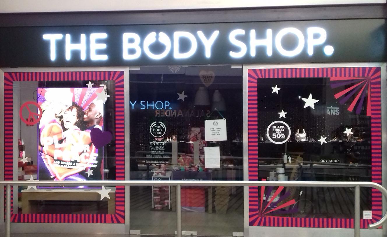 Body Shop kirakatdekor